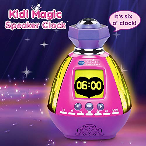 VTech Kidi Magic Light Projector Speaker Clock with AC Adapter Amazon Exclusive, Pink ()