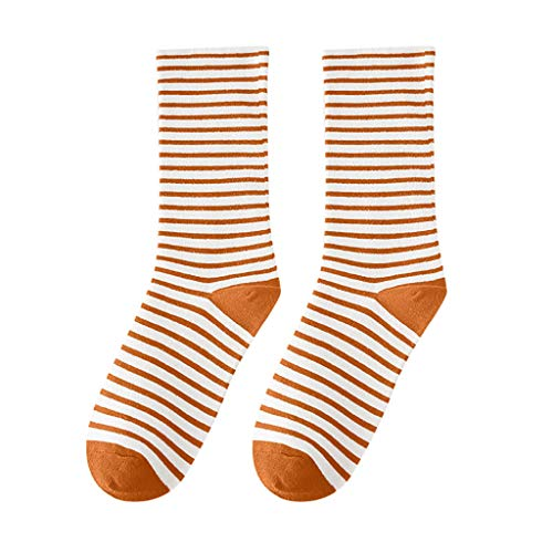Mid Tube Socks Unisex,PASHY Winter Women Warm Stripe Socks Mid Tube Socks Cotton Retro Style Fashion Sock ()