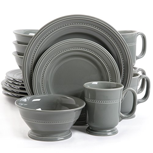 picture of Gibson Barberware Dinnerware Set in Grey