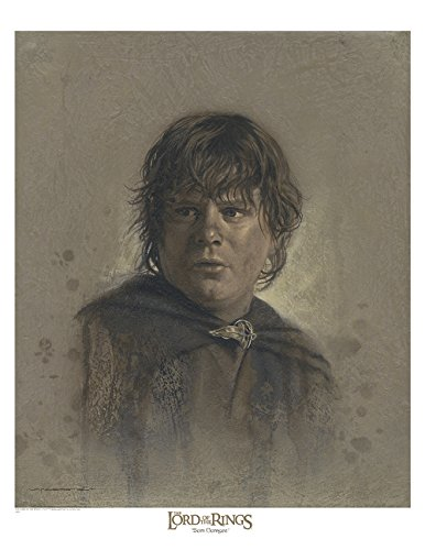 Samwise 12 x 16 Antique Paper Giclee Art print - The Lord of the Rings