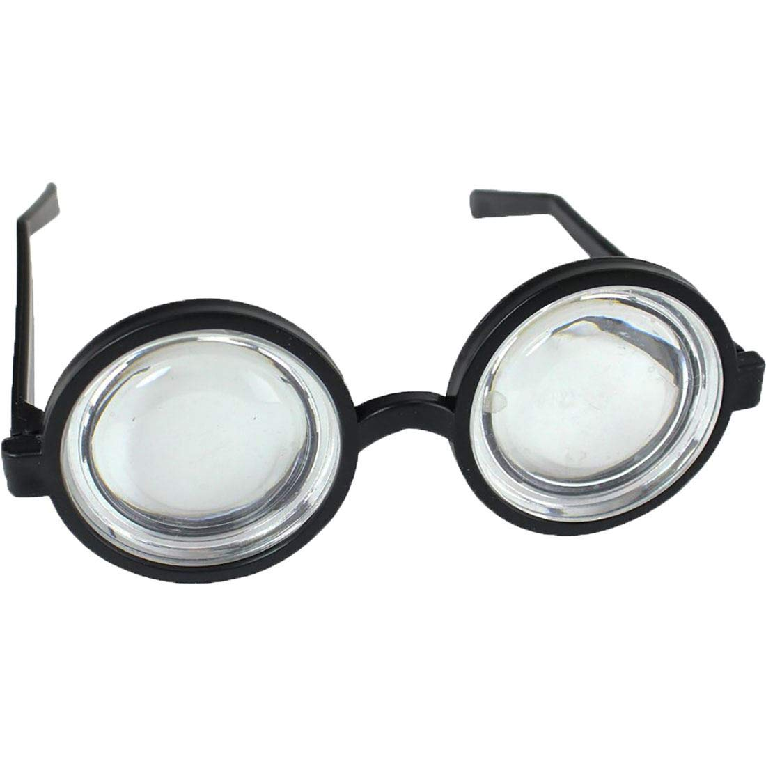 Kids Thick Bug Eyed Lenses Round Neck Glasses Childs Fancy School Play Accessory One Size