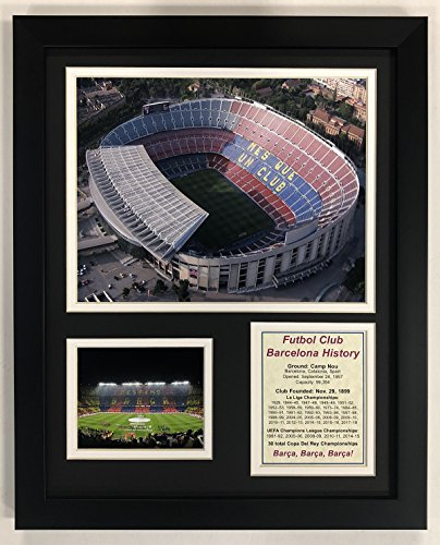 Barcelona Framed - Legends Never Die FC Barcelona Stadium - Camp Nou - Framed 12