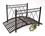 Metal bridge 111252 Iron bridge 145 cm Garden bridge Metal bridge Garden decoration