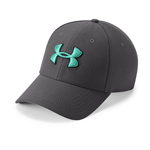 (Under Armour Men's Blitzing 3.0 Cap, Charcoal (019)/Green Malachite, Medium/Large)