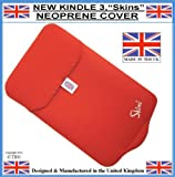 Prolineonline Neoprene Kindle Sleeve Cover & Screen Protector, Scarlet