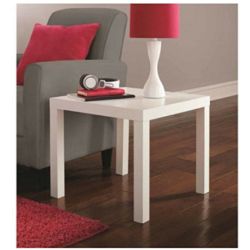 Mainstays Parsons End Table (White)
