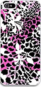 Ultra Slim for iPhone 5 Leopard flower art design on a white background hongguo's case