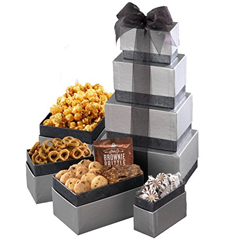 Broadway Basketeers Corporate Gift Basket with Assorted sweets, cookies and gourmet popcorn (The Best Corporate Gifts)
