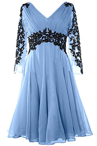 Himmelblau Gormal Bride Long V MACloth Gorgeous Evening Dress Mother Neck Sleeve of Gown vgFZTW