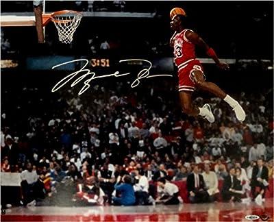 Michael Jordan Hand Signed Autographed 16x20 Photo Slam Dunk Gatorade Bulls UDA