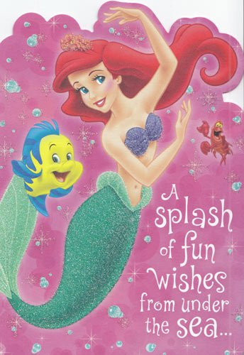 Amazon Greeting Card Birthday Little Mermaid A Splash Of Fun