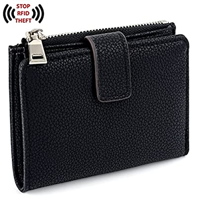 UTO RFID Wallet for Women PU Leather Wallet Card Holder Organizer Girls Small Cute Coin Purse with Snap Closure