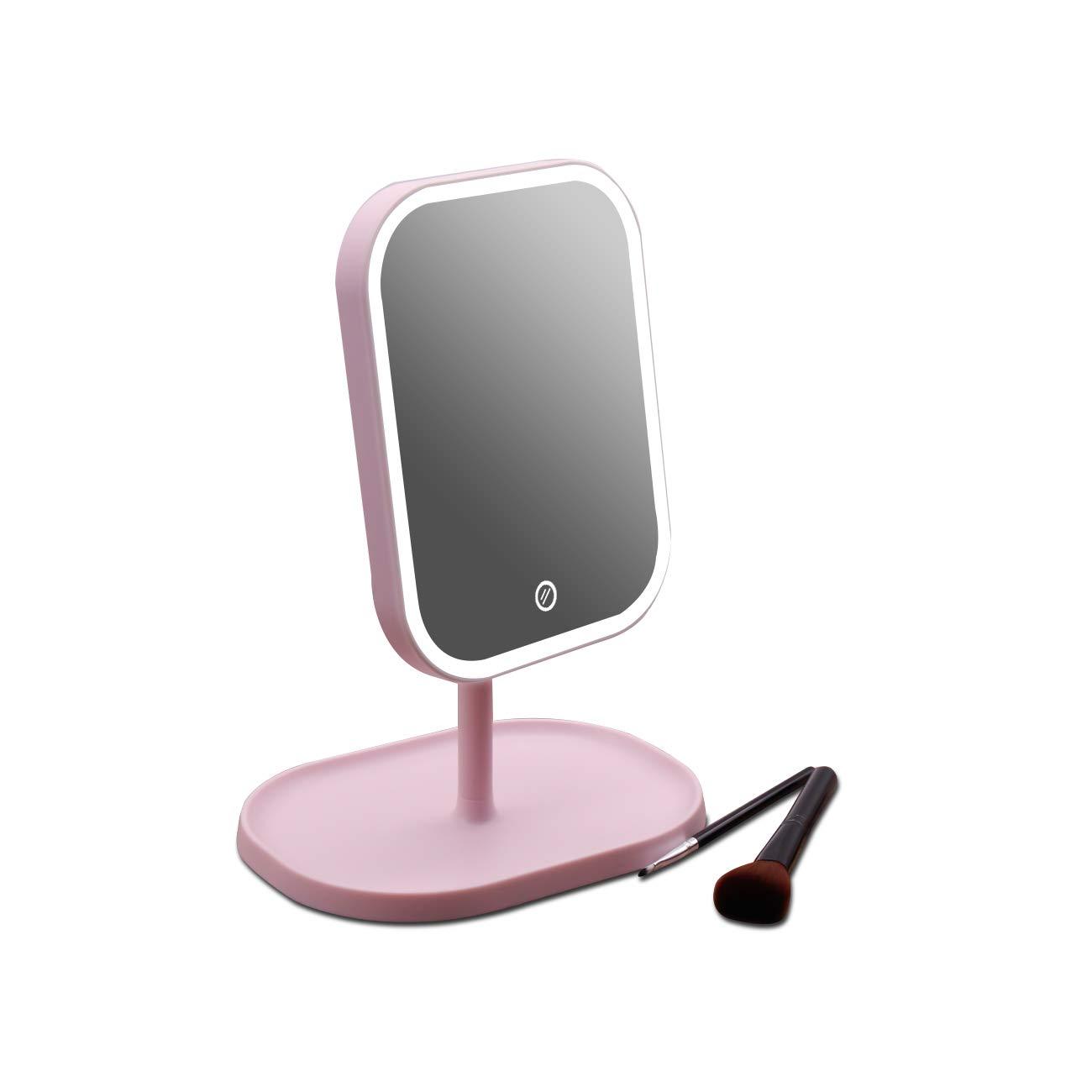 AODAILIHB Simple Square Removable LED Makeup Mirror Rotary Folding Traveling Mirror Light Brightness Adjustable …