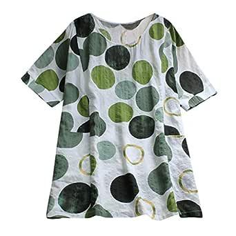 Bestow Camisa de Manga Corta con Estampado de Punto para Mujer ...