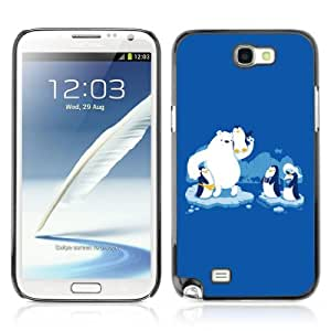 Designer Depo Hard Protection Case for Samsung Galaxy Note 2 N7100 / Friendly Penguins