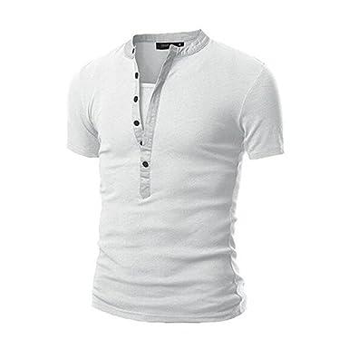 Grigio YanHoo Magliette,T Shirt Uomo, Casuals, Polo Uomo