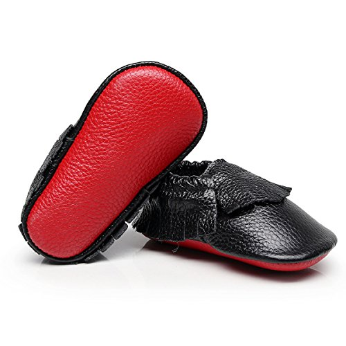 Pictures of HONGTEYA Baby Tassel Shoes Soft Leather Sole - 4