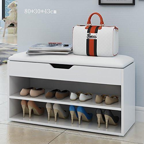 靴ベンチ収納キャビネットラック廊下ベッドルームシートクッション付き靴ラックベンチ金具 (サイズ さいず : A3)