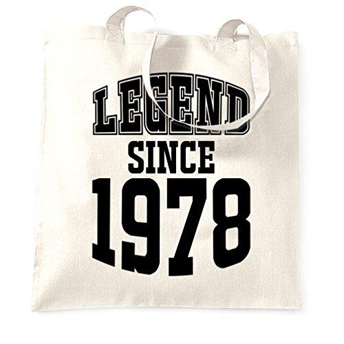 Depuis En à 40 Main Made Ans 1978 40e Cadeau Anniversaire white Légende 1978 Sac xZFqWwIS