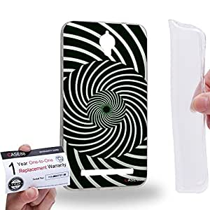 Case88 [Asus Zenfone C ZC451CG] Gel TPU Carcasa/Funda & Tarjeta de garantía - Art Fashion Visual Art Effect 10 Art1019