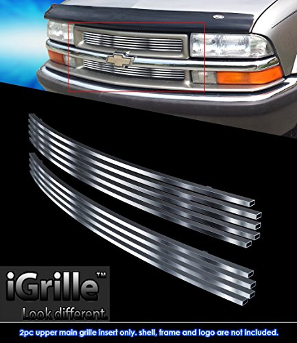 Stainless Steel eGrille Billet Grille Grill For 98-04 Chevy S-10 /98-05 Blazer Insert