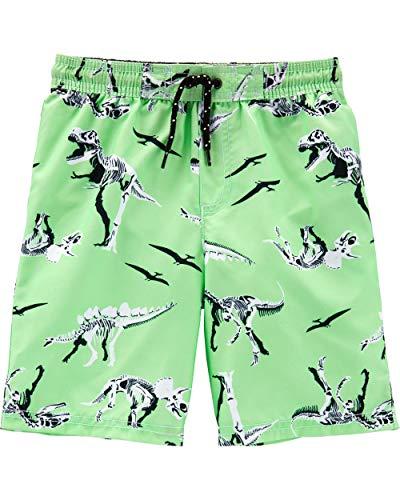 Dinosaur Suit - Carter's Little Boys' Swim Trunk, Dinosaur/Green,