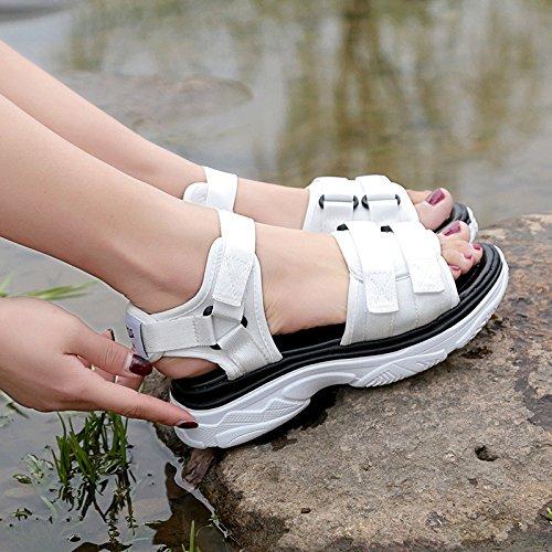 Platform Chaussures Chaussures Toe Plates Dames Open Dick yalanshop Sandales Étudiant Velcro Chaussures Soled Spell 1Color vqaPndw