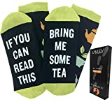 If You Can Read This Bring Me Tea - Funny Unisex Funky Colorful Dress Socks For Men and Women - By Lavley