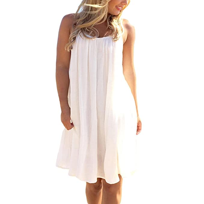 Cinnamou Vestido de playa Blusa de encaje sin mangas de encaje ropa de mujer vestidos verano