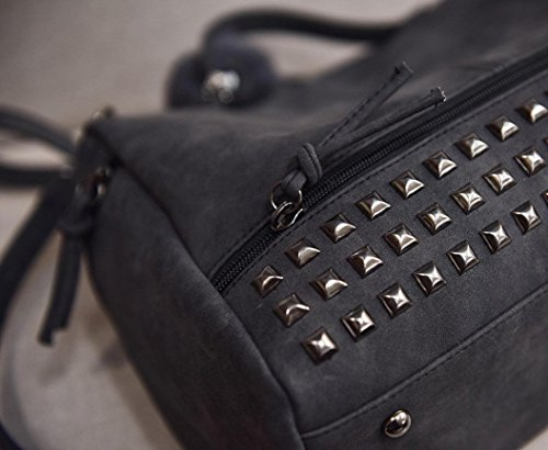 Bag New BESTOPPEN Bag Gray Cross Tote Womens Body Fashion Handbag Women Gift Messenger Bag Big Bag Look Black Solid Holiday Rivet Casual Fashion Ladies Travel Satchel Clearance Color Large for Shoulder SUwaqw