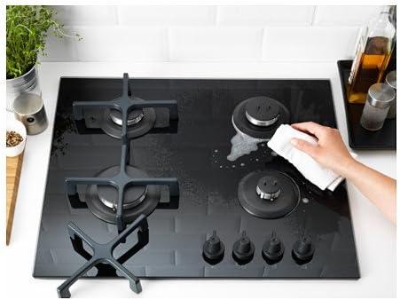 Ikea LIVSGNISTA - Cocina de Gas, Color Negro: Amazon.es