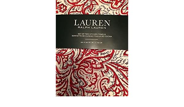 Amazon.com: RALPH LAUREN Set of 2 Kitchen Towels 20