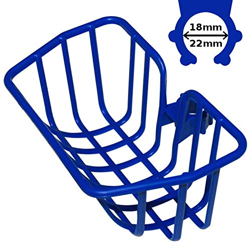 cyclingcolors Universal Blue Basket Kid Girl BOY Bike Plastic Bag Rack Front Clip Hook 18-22mm PUKY