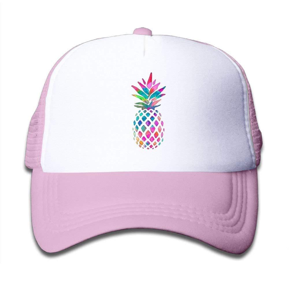 MQINMYI Mesh Baseball Cap Girls Cute Rainbow Pineapple Classic Adjustable
