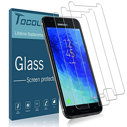 [3 Pack] TOCOL Sreeen Protector for Samsung Galaxy J7 Star, [Case Friendly] [Japan Glass with 9H Hardness] Tempered Glass with Lifetime Replacement Warranty