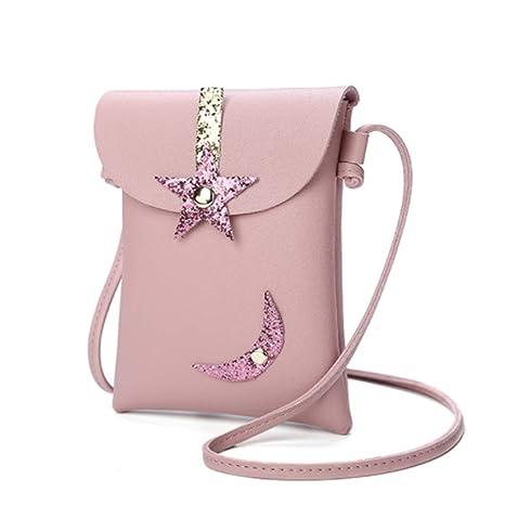 Yeucan Star Moon - Monedero plegable para mujer Size rosa ...
