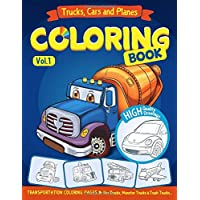 Trucks, Planes and Cars Coloring Book: Cars coloring book for kids & toddlers - activity books for preschooler…
