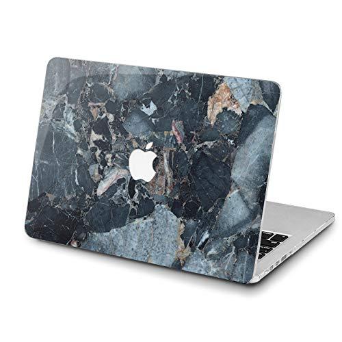 Lex Altern MacBook Pro 15 inch Case 2018 Air 13 11 12 Marble Mac 2017 Retina Granite Dark Blue Cover Stone Natural Hard Texture Apple Professional 2016 Laptop Protective A1708 Men Print 2015 Women