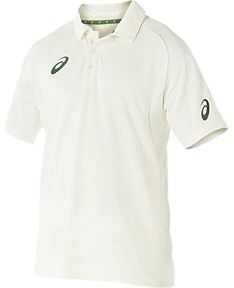 18fbb70c832c Buy Asics Cricket T-Shirt with Mesh Panels - Real White Online at Low  Prices in India - Amazon.in