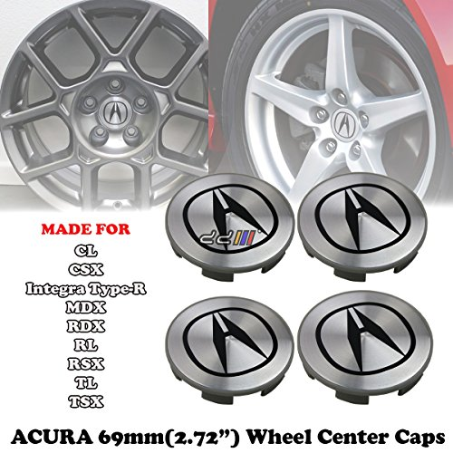 69mm Silver Wheel Centre Hub Cap For Acura Integra CL CSX MDX RDX RL RSX TL TSX -