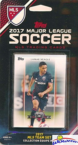 D.C. United 2017 Topps MLS Soccer EXCLUSIVE Limited Edition Factory Sealed Complete Team Set with Lamar Neagle & Many More Stars & Rookies! Shipped in Bubble Mailer! WOWZZER!