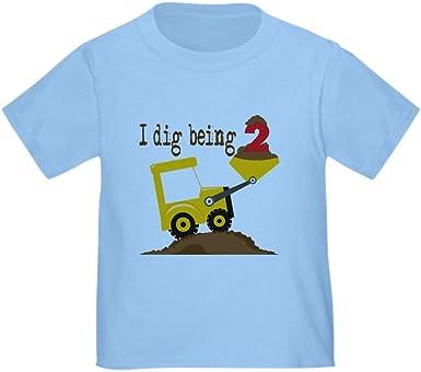 Cute Toddler T-Shirt 100/% Cotton CafePress I Dig Being 2 T-Shirt
