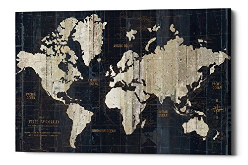 (Epic Graffiti Old World Map Giclee Canvas Wall Art by Wild Apple Portfolio, 26