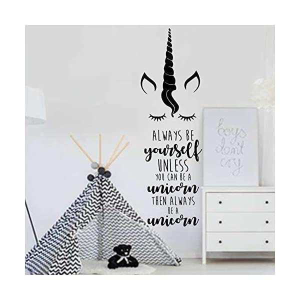 Unicorn Wall Sticker Bedroom Decal Kids Room Wall Decoration for Girls 5