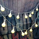 LeMorcy LED Globe String Lights, 100 LED 33ft Fairy Light for Gardens, Lawn, Patio, Christmas Trees, Wedding, Parties, Halloween, Indoor and Outdoor Use (Warm White)