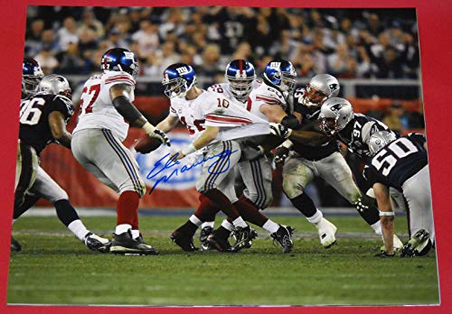 ELI MANNING NEW YORK GIANTS AUTOGRAPHED 16X20 SUPER BOWL PHOTO AASH