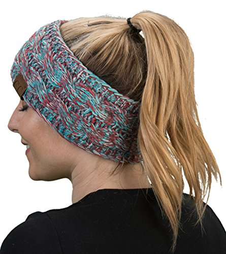 HW-6033-816.4246 Funky Junque Headwrap - Red/Teal (4T#19) by Funky Junque