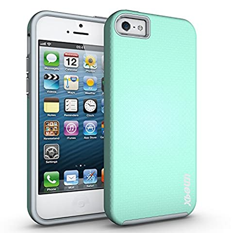 iPhone 5S Case, iPhone 5 Case, iPhone SE Case, Xboun iPhone5, 5S and SE [Dual Layer] Drop Protective Case [Armor Case] PC + TPU Bumper Case for Apple iPhone5/5S/SE(2016 Special Edition) ( Mint (5s Cases Special)