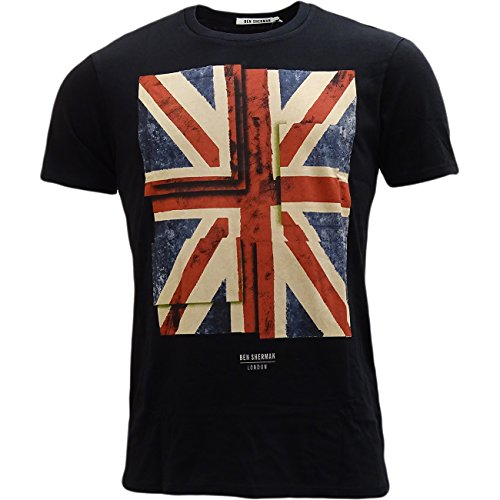 Ben Sherman Men's Uk Union Jack T-Shirt - Ben Short Sleeve T-shirt