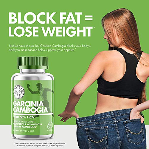 Garcinia Cambogia – Pure Garcinia Cambogia with HCA – Supports Weight Loss, Carb Blocker and Curbs Appetite with Boost…